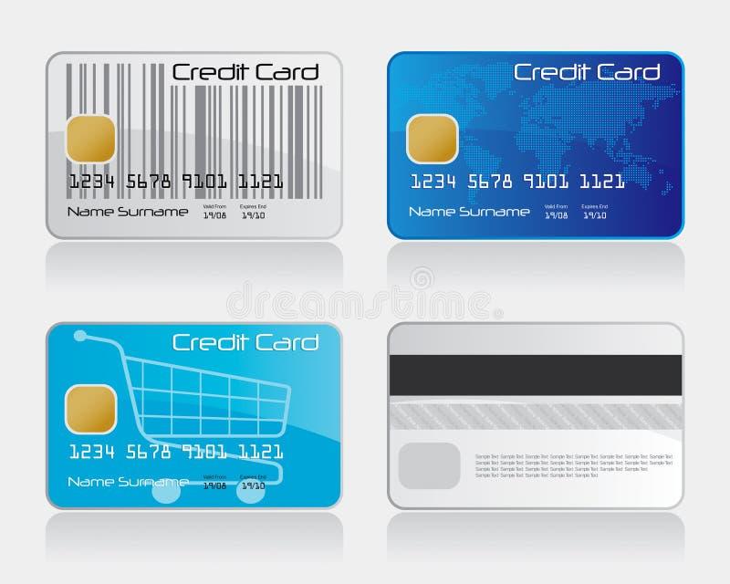 kredytowy karta (1) set ilustracji