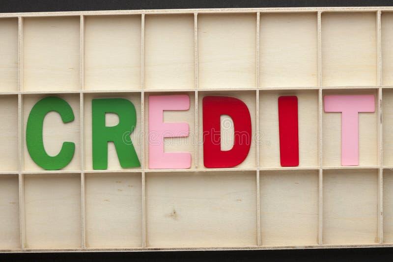 Kredytowy słowa pojęcie obraz stock
