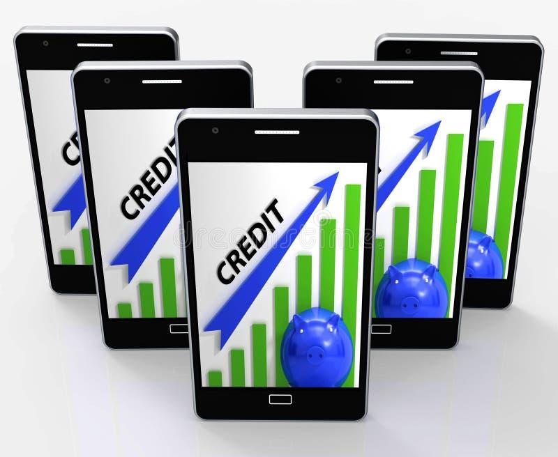 Kredytowy wykresu telefon Znaczy finansowań odpłacenia I pożyczanie ilustracji