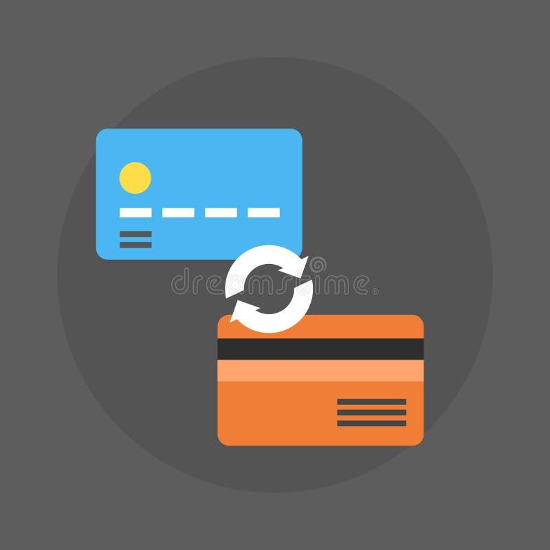 Kredytowych kart ikony pieniądze Wekslowa zapłata ilustracji