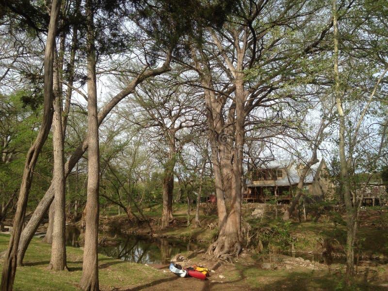 Kreek in Wimberley, Texas stock fotografie
