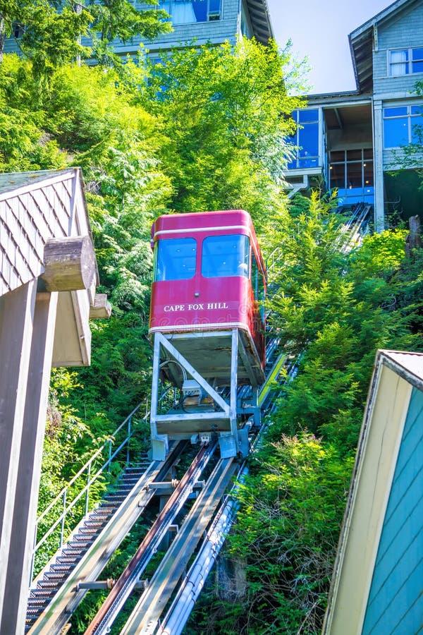 Kreekstraat in de ketchikan meningen van Alaska stock foto's