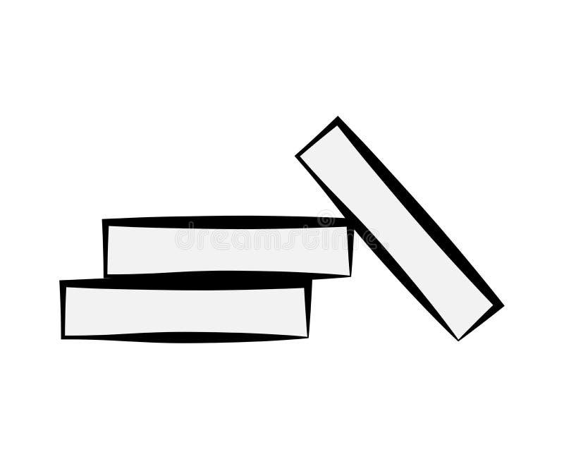 Kreide für Schultafelkarikatur-Vektordesign auf wh vektor abbildung
