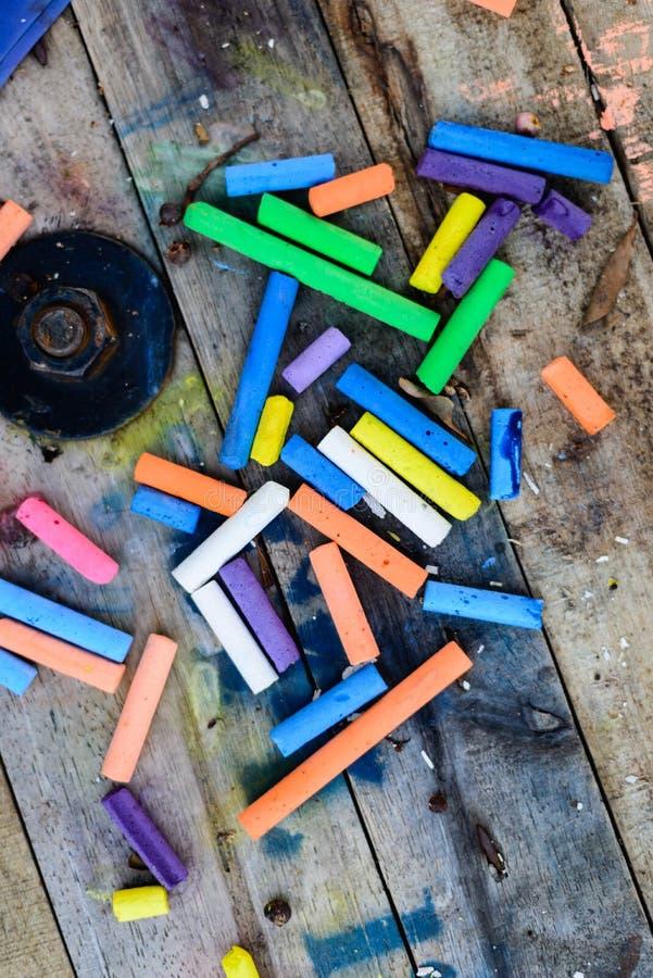 Kreide-Farbvertikale stockbild