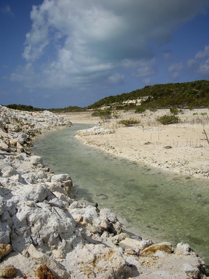 Kreide solide Providenciales Türken u. Caicos lizenzfreie stockfotos
