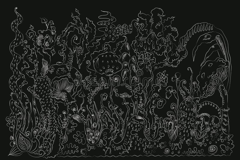 Kreideartiger hölzerner Hintergrund stock abbildung