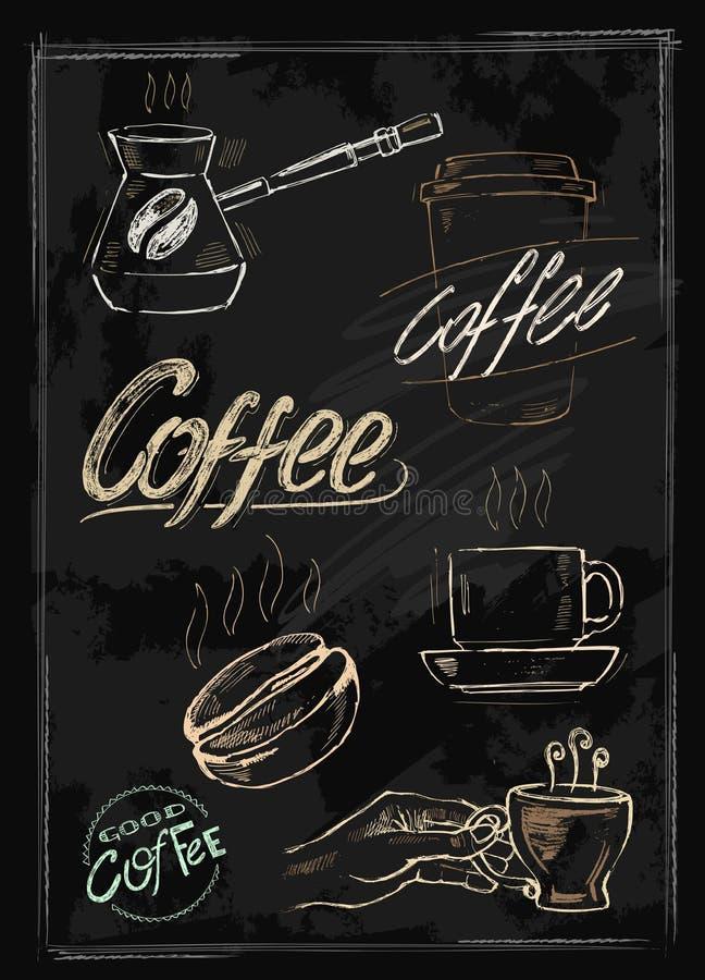 Kreidekaffee lizenzfreie abbildung