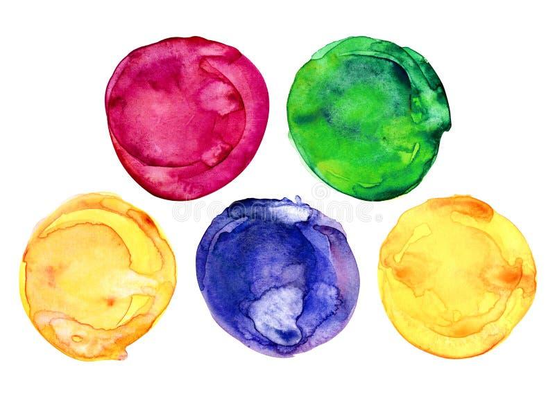 Kreis, Aquarell, Farbe, Farbe, Wasser, Spritzen, Punkt, Beschaffenheit, Entwurf, Tropfen, grafisch, rund, grün, purpurrot, Satz,  stockfotografie