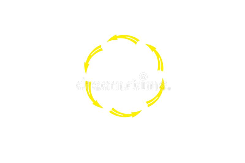 Kreis, bereiten Logo Designs Inspiration Isolated auf weißem Hintergrund auf lizenzfreie abbildung