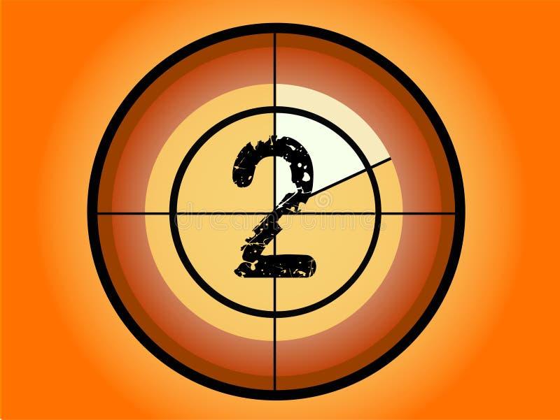 Kreis-Count-down - bei 2 stock abbildung