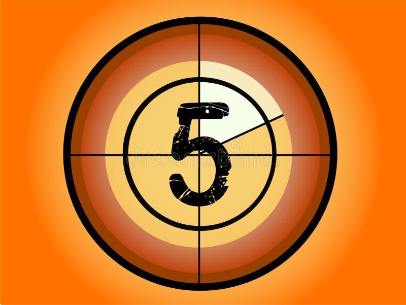 Kreis-Count-down - bei 5 stock abbildung