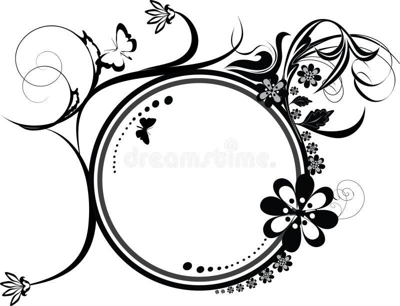 Kreis dekorative Flourishesverzierung stock abbildung