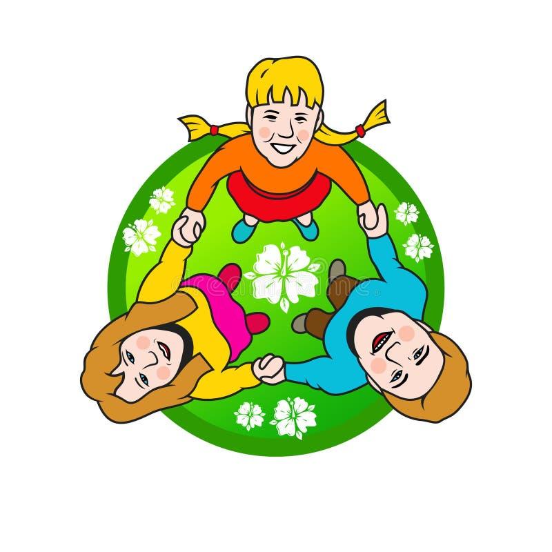 Kreis der Familie-Zeichen stock abbildung