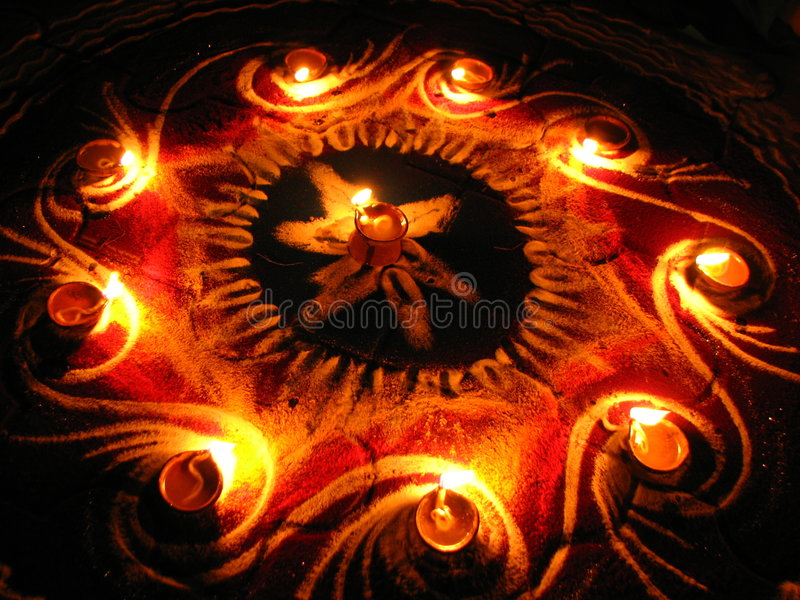 Kreis der Lampen