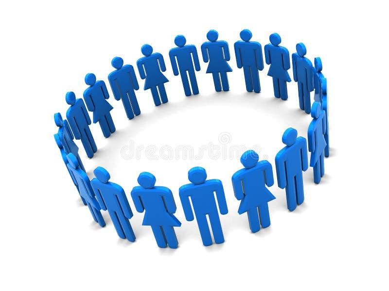 Kreis der Leute lizenzfreie abbildung
