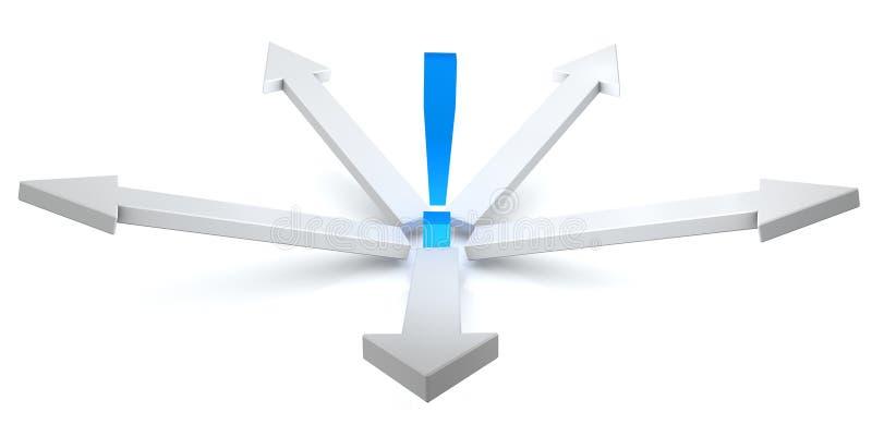 Kreis der Pfeile in 3D   stock abbildung