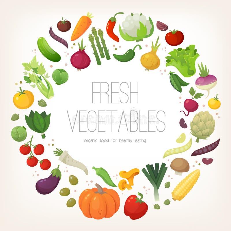 Kreis des bunten Gemüses stock abbildung