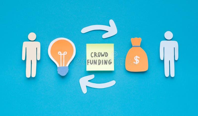 Kreis des Geldes und der Ideen zwischen enterpreneurs lizenzfreies stockfoto