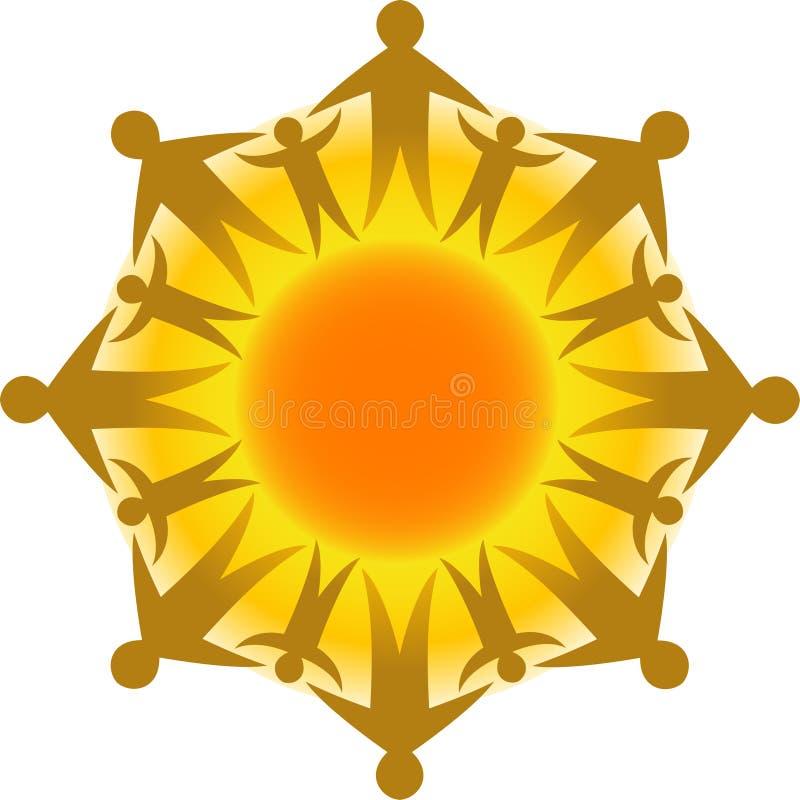 Kreis des Lebens Sun/ENV stock abbildung