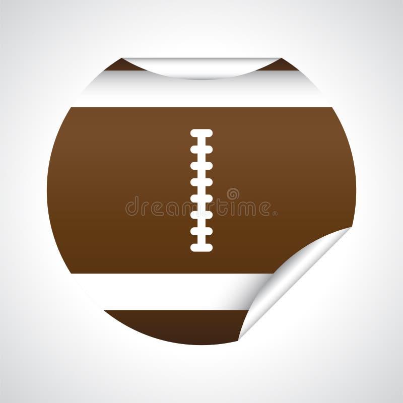 Kreis-geformter Fußball-Aufkleber vektor abbildung