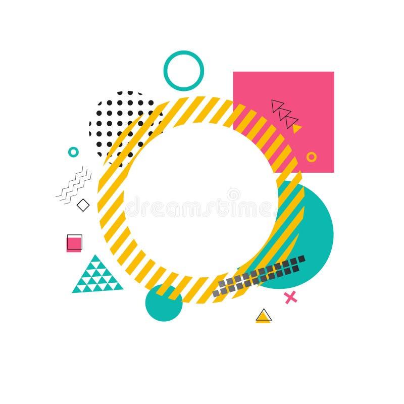 Kreis gemacht von den gelben Linien auf Vektor-Illustration lizenzfreie abbildung