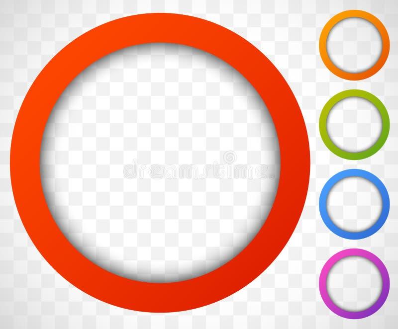 Kreis-Ikone Bunter Ikonenhintergrund Abstrakte Linse stock abbildung