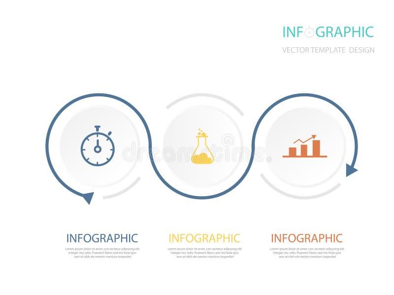 Kreis infographic Schablone für Diagramm Vektorillustration - Vektor stock abbildung