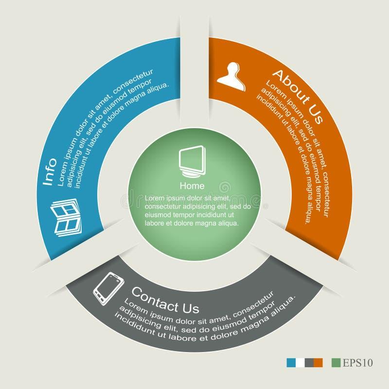 Kreis infographics stockbild