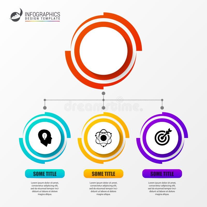 Kreis Infographics Schablone für Diagramm Auch im corel abgehobenen Betrag lizenzfreie abbildung