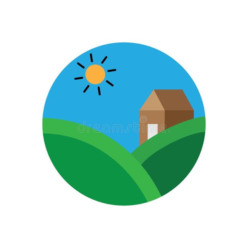 Kreis Landscap Logo Design vektor abbildung