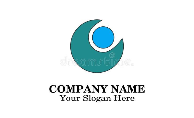 Kreis Logo Design lizenzfreies stockfoto