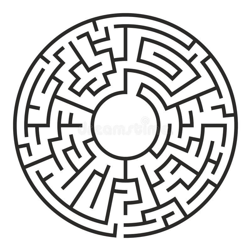Kreis Maze Vector stock abbildung