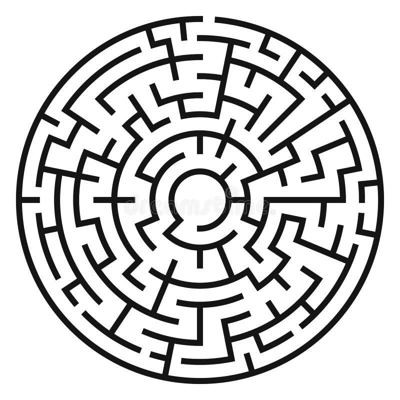 Kreis Maze Vector lizenzfreie abbildung