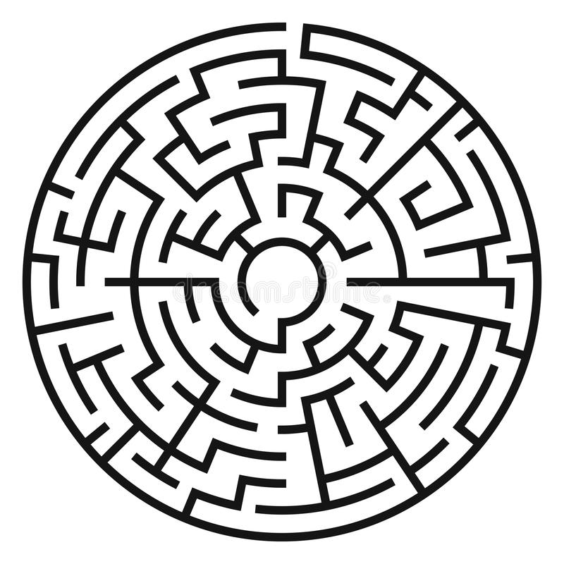 Kreis Maze Vector vektor abbildung