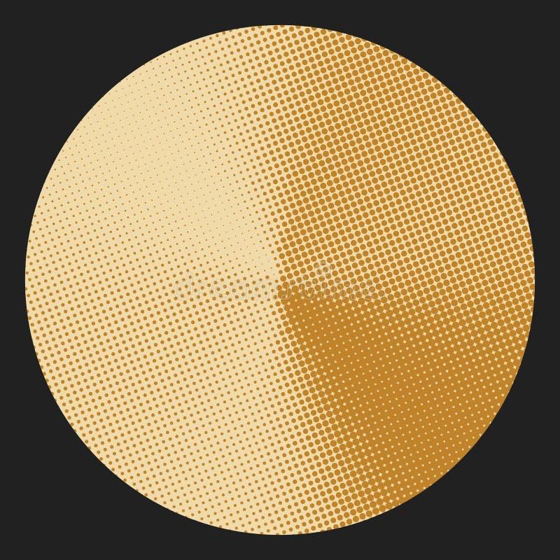 Kreis mit konischem Halbtonsteigungseffekt stock abbildung