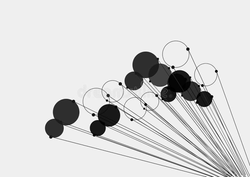Kreis mit Perspektive zeichnet moderne Grafikdesign-Elemente mit sauberem minimalem Art-Hintergrund vektor abbildung