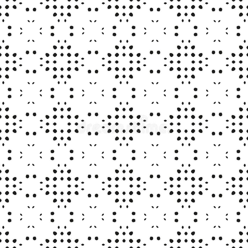 Kreis-nahtloser Schmutz-Staub-unordentliches Muster Einfach, Abstra zu schaffen stock abbildung