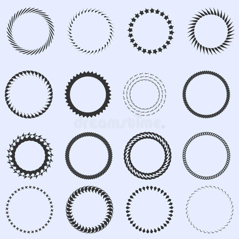 Charmant Kreis Rahmen Vektor Bilder - Badspiegel Rahmen Ideen ...