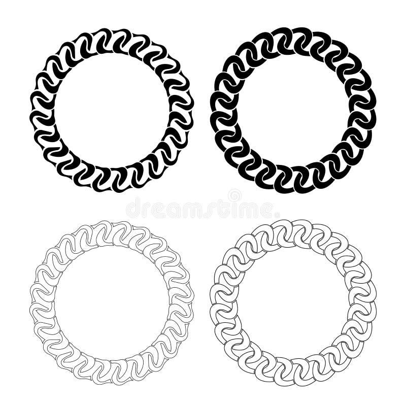 Kreis-Rahmen vektor abbildung. Illustration von dekorativ - 55348890