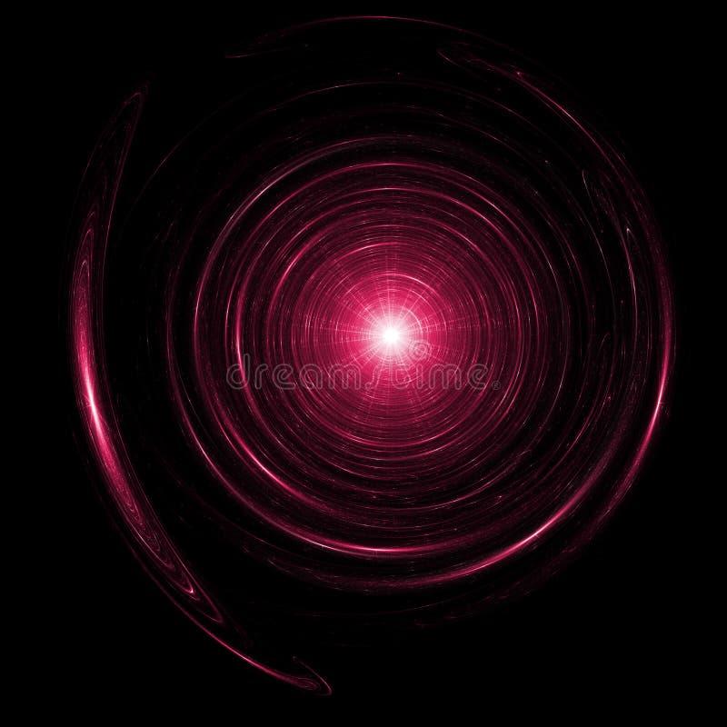 Kreis rays Stern lizenzfreie abbildung