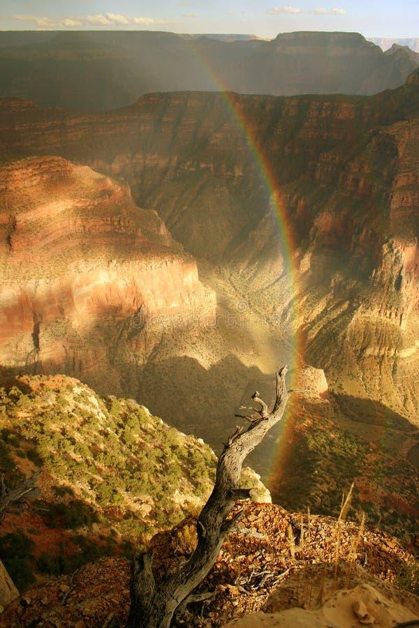 Kreis-Regenbogen über Grand Canyon lizenzfreies stockbild