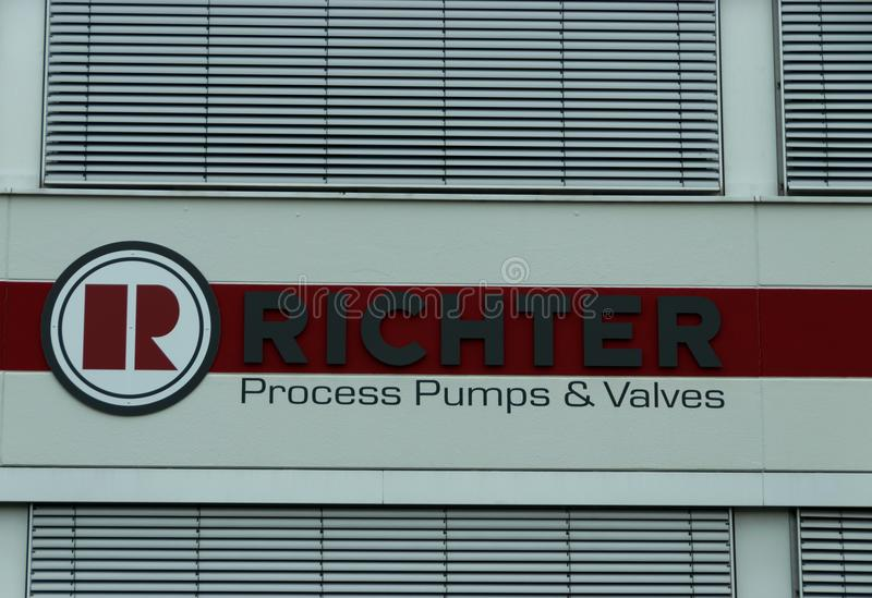 Kreis Viersen Germany June 24th 2018: Richter process pumps and valves stock photo