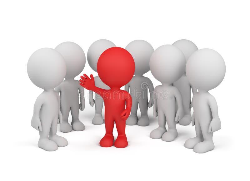 Kreis von Leuten mit Führer vektor abbildung