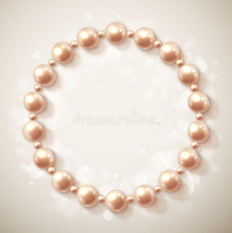 Kreis von Perlen lizenzfreie abbildung