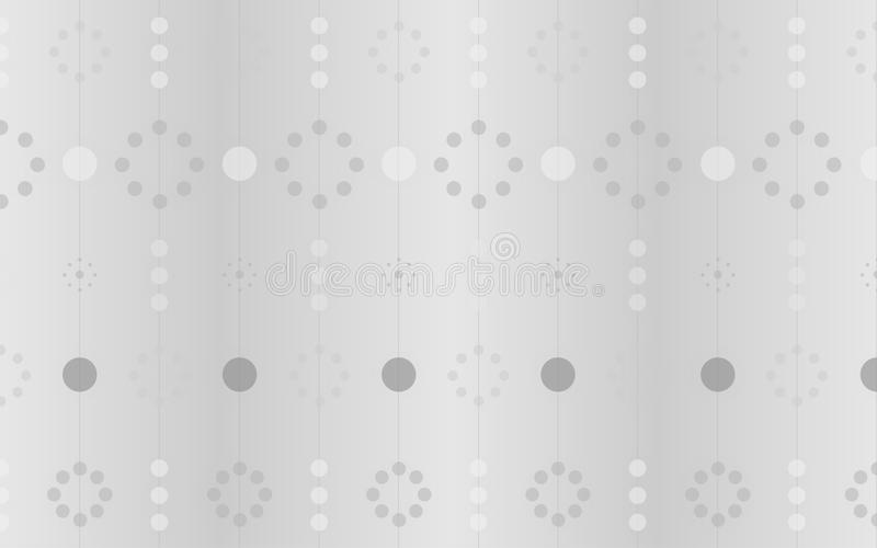 Kreis-Weiß und Gray Modern Geometric Design stock abbildung