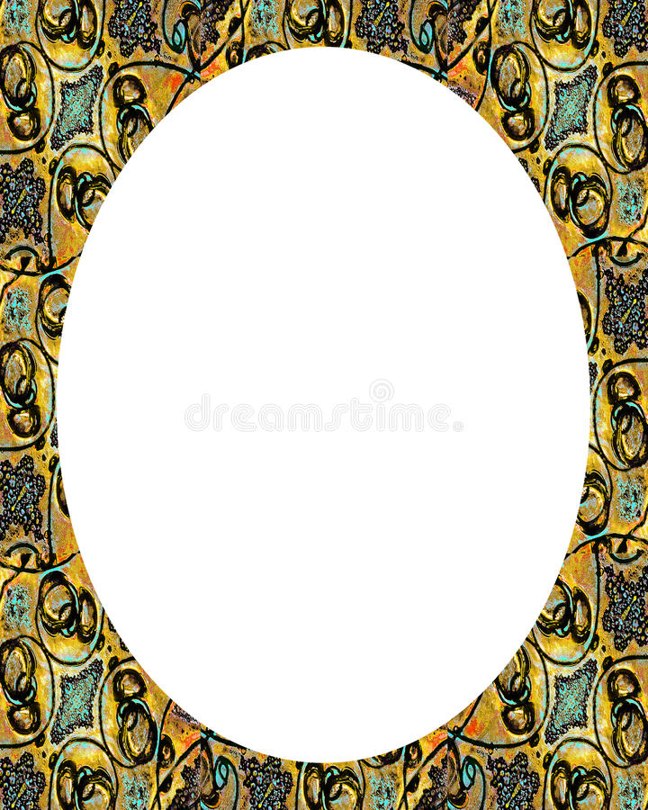Kreis-weißer Rahmen-Hintergrund mit verzierten Grenzen vektor abbildung