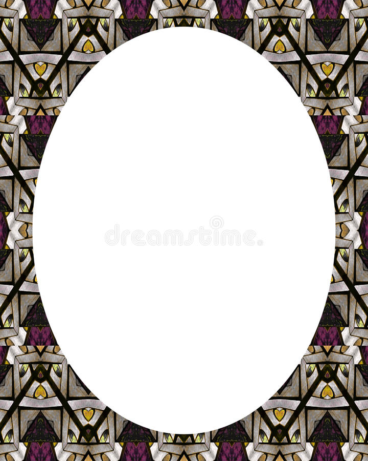 Kreis-weißer Rahmen-Hintergrund mit verzierten Grenzen lizenzfreie abbildung