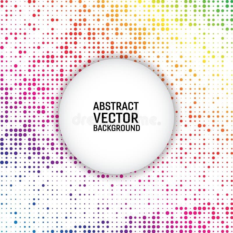 Kreis-Zusammenfassungshintergrund des Regenbogenfarbvektors moderner geometrischer Punktierte Beschaffenheitsschablone Geometrisc vektor abbildung