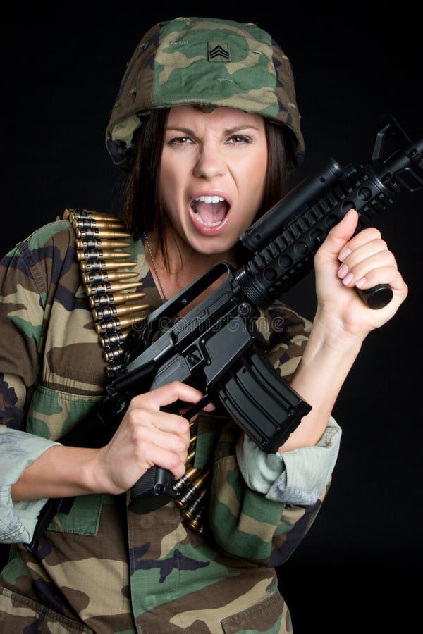 Kreischen des Soldaten lizenzfreie stockfotos