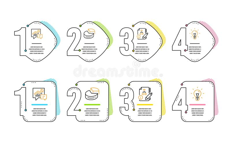 Kreisdiagramm, Buchhaltungs- und Algorithmusikonensatz Ideenzeichen Diagramm 3d, Angebot und Nachfrage, Projekt Ideenkonzept, vek vektor abbildung
